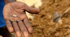hand holding diamond