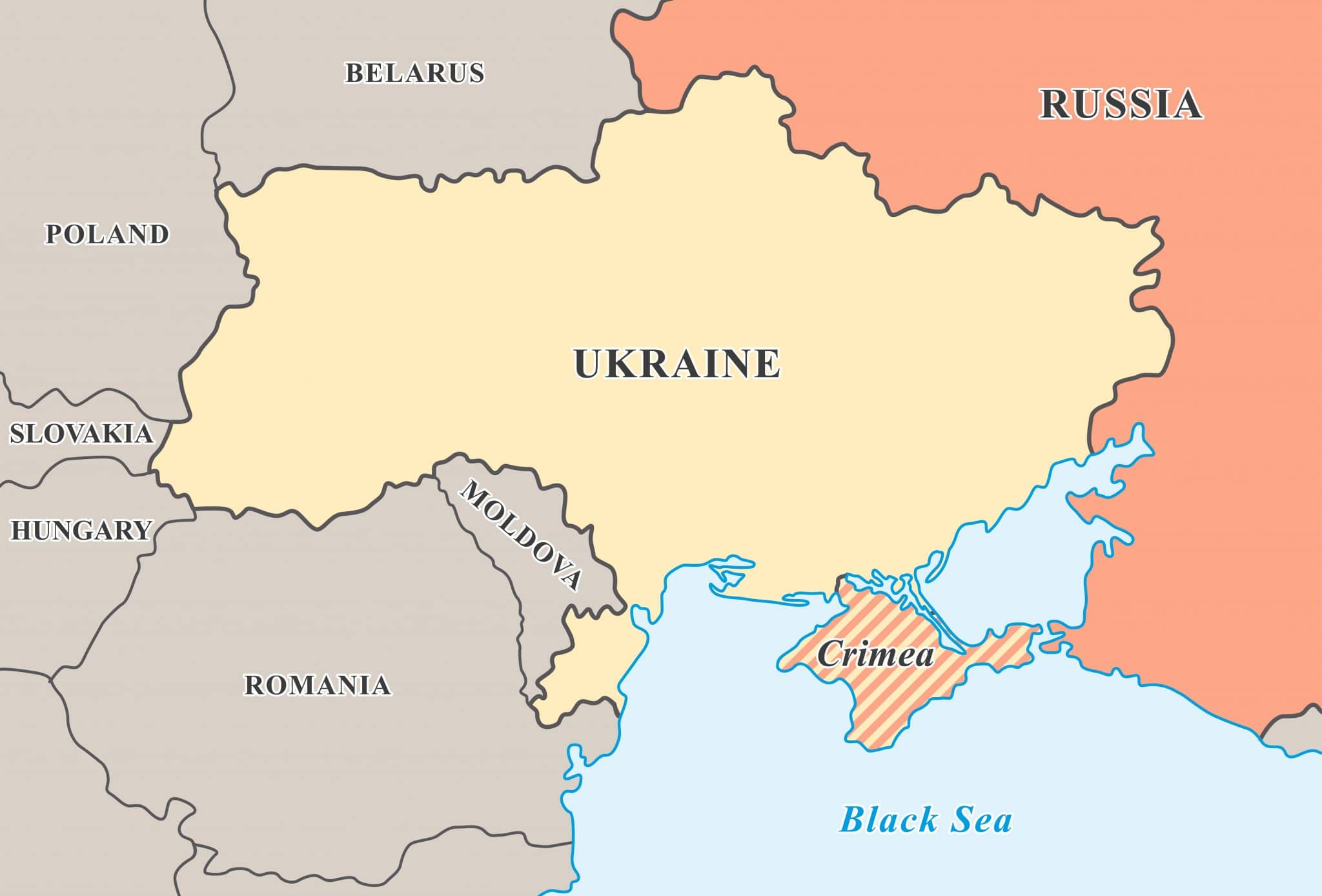 donetsk and luhansk oblasts of ukraine and the area of conflict between the ukrainian forces and the pro russian separatists with the self proclaimed