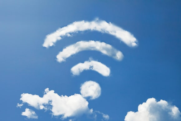 wifi marks made of clouds