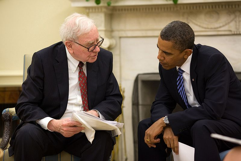 Buffett & Obama (source: Wikipedia)