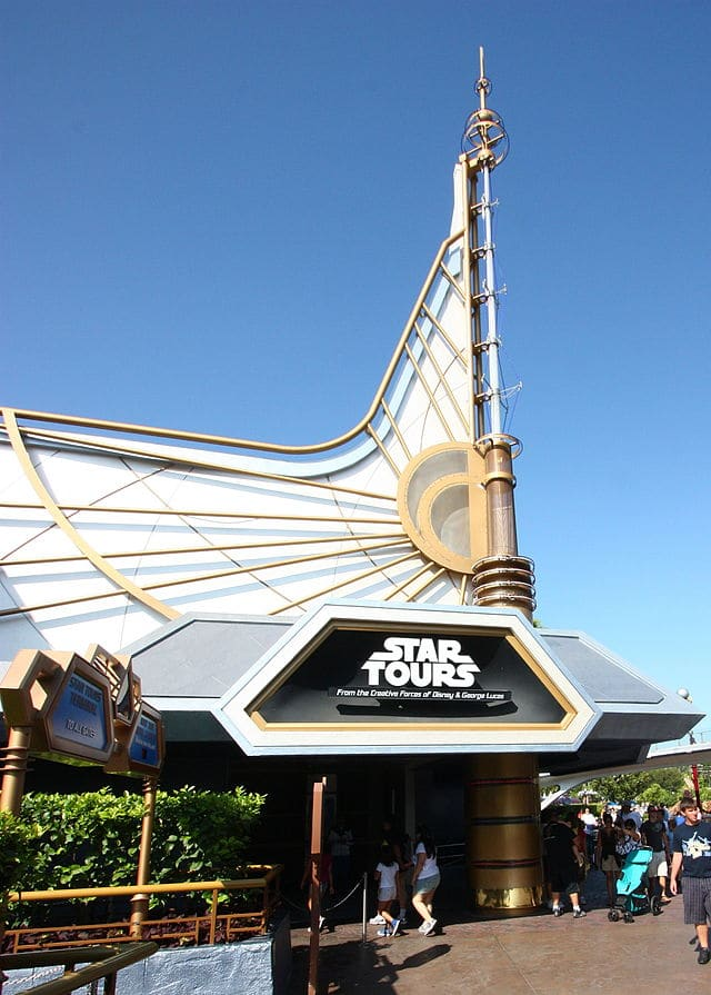 Star Wars attraction in Disneyland