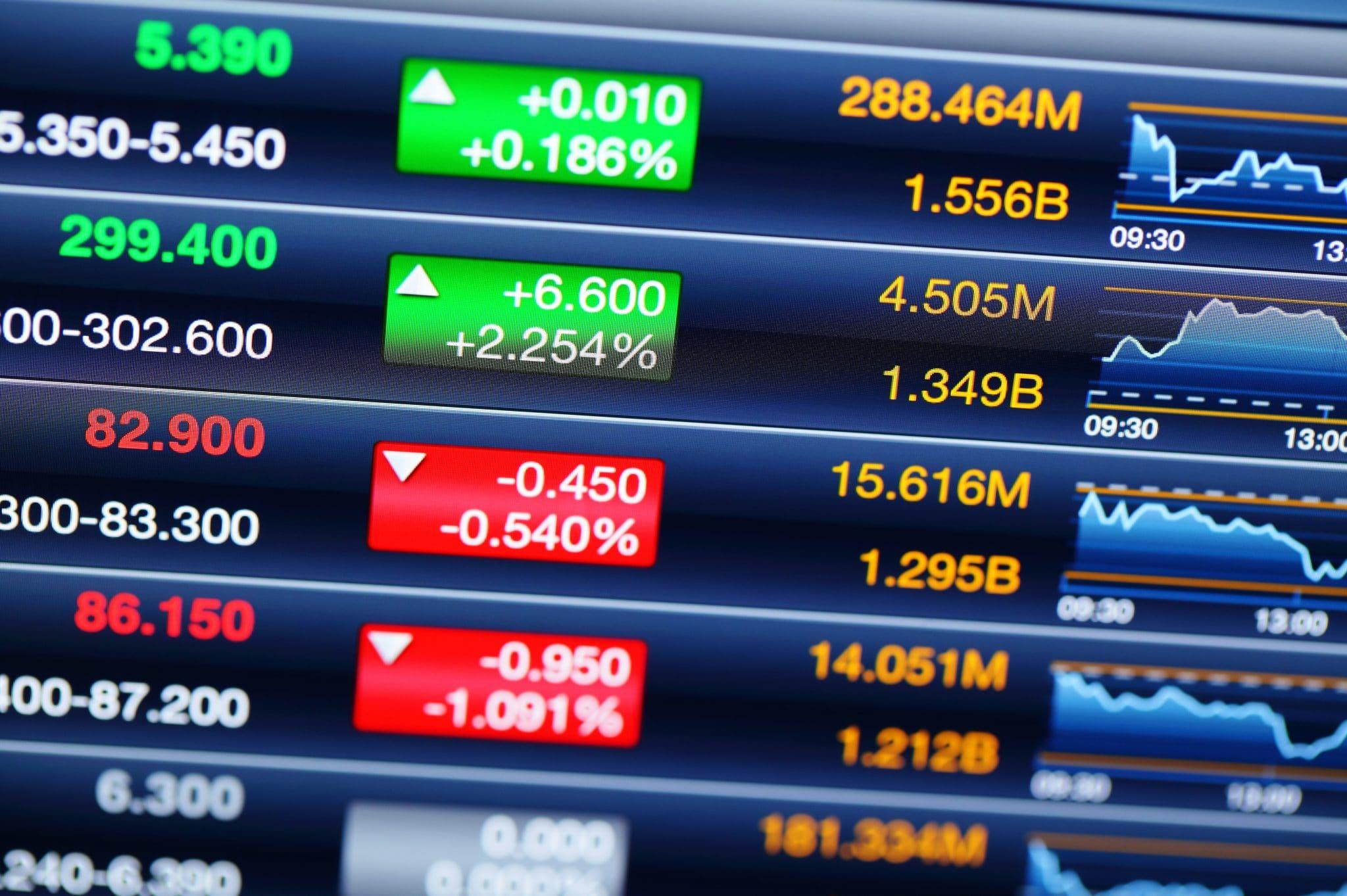 Stocks market prices