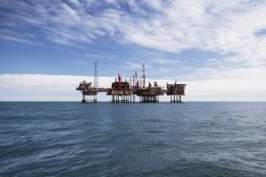Oil platform at day