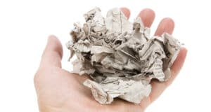 Tearing Newspaper with white background