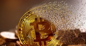 bitcoin coin dissolves