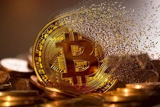 bitcoin coin dissolves