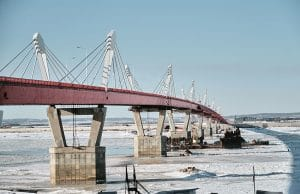 Baysarov's Amur River Highway Bridge will be ready for opening by this spring